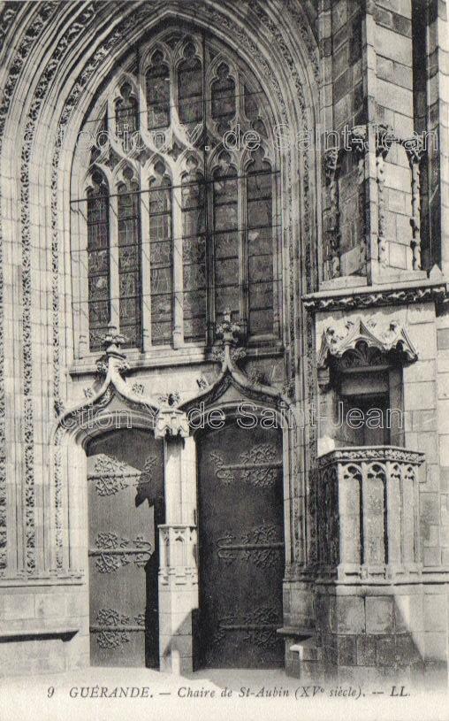 chaire extérieure, collégiale St-Aubin, Guérande
