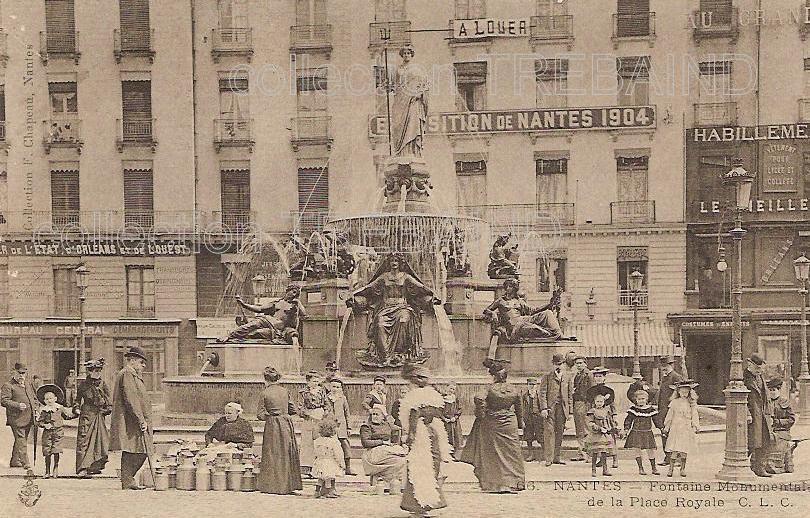 statues de la Loire et ses affluents, Nantes place royale, 1905