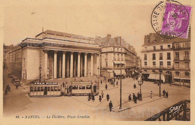 Nantes Places Cartes Postales