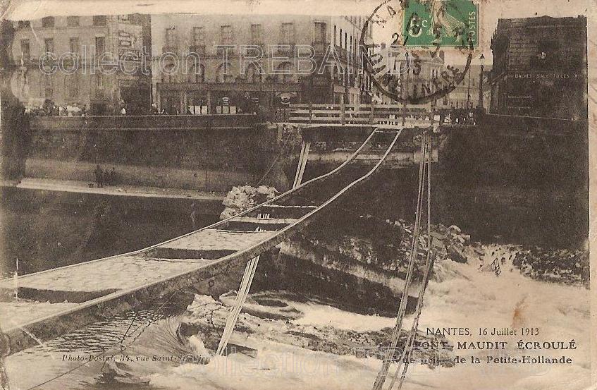 Nantes, le Pont Maudit - Collection particulière, reproduction interdite
