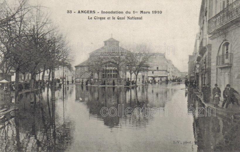 Angers - Innondations de 1910