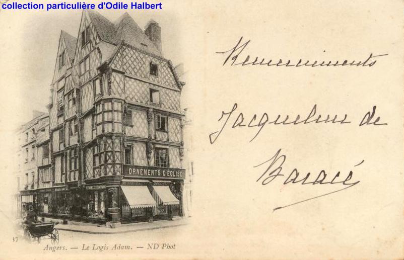 Angers, la maison Adam, place Sainte Croix, collection personnelle
