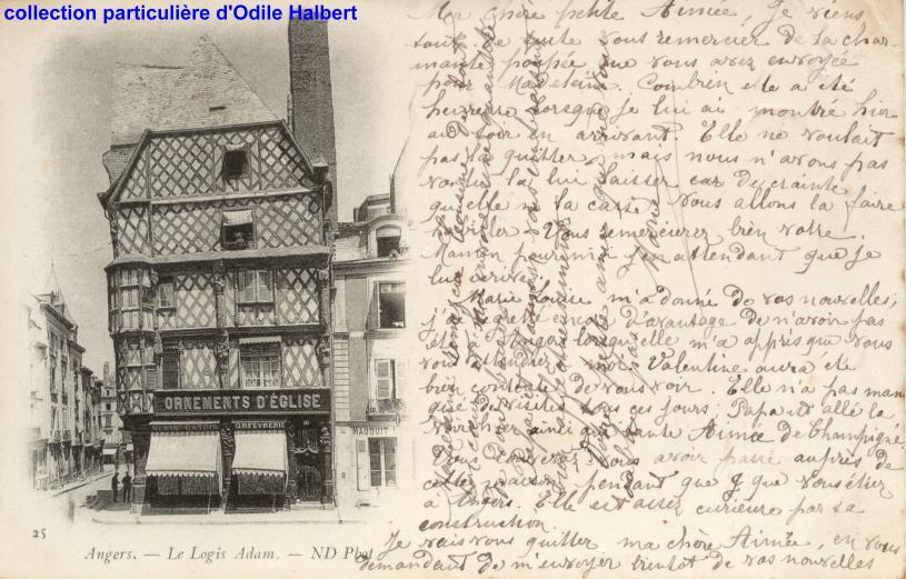 Angers, place sainte-Croix, collection particulière, reproduction interdite