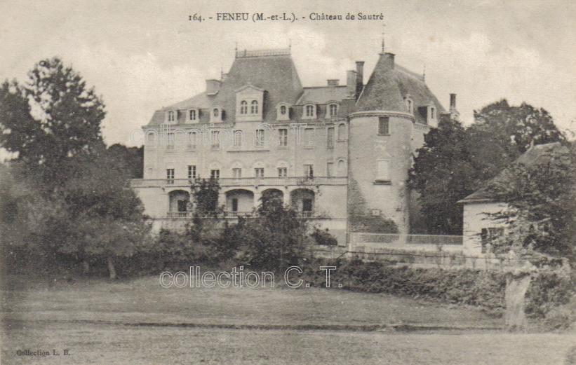 Feneu, château de Sautré, collection personelle, reproduction interdite