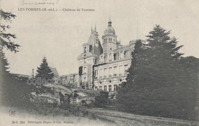 Savennières, château de Varenne, collection particulière, reproduction interdite