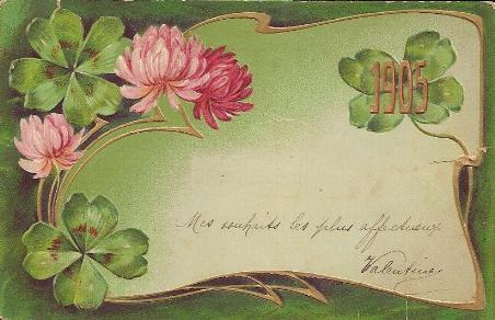 Top Carte de Voeux de Bonne Année en 1905 – MODES de VIE aux 16, 17e  TK82
